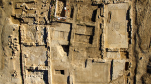 An aerial view of the Byzantine period Monastery.